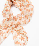 Unique Vintage Pin-Up Gingerbread Man Print Chiffon Hair Scarf