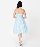 I Love Lucy x Unique Vintage Light Blue Honeymoon Swing Dress