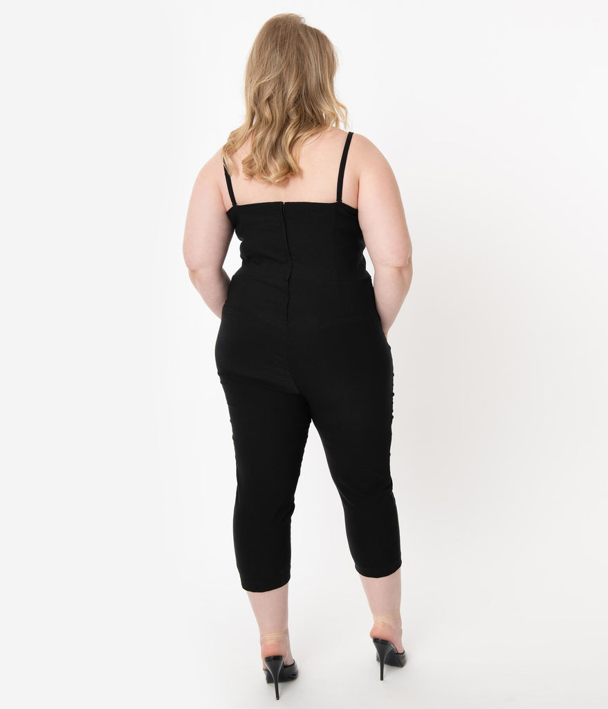I Love Lucy x Unique Vintage Plus Size Black Starlet Jumpsuit