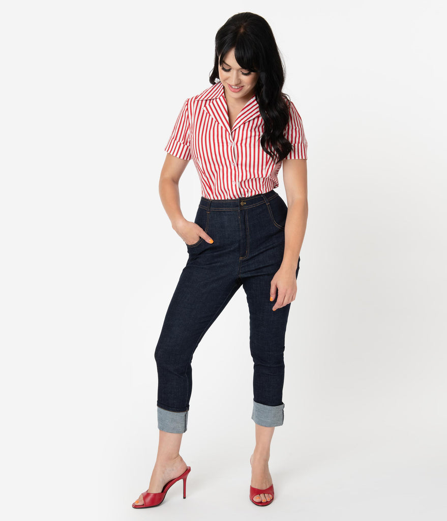 I Love Lucy x Unique Vintage True Blue Little Ricky Jeans