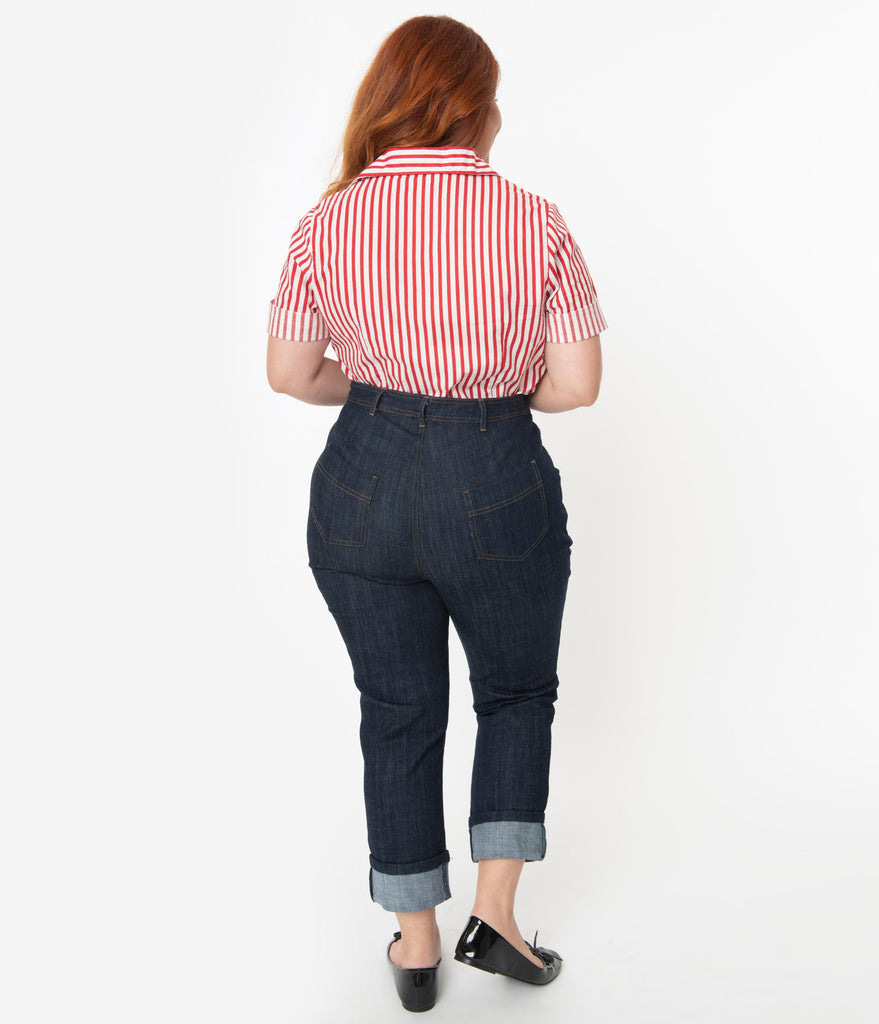 I Love Lucy x Unique Vintage Plus Size True Blue Little Ricky Jeans