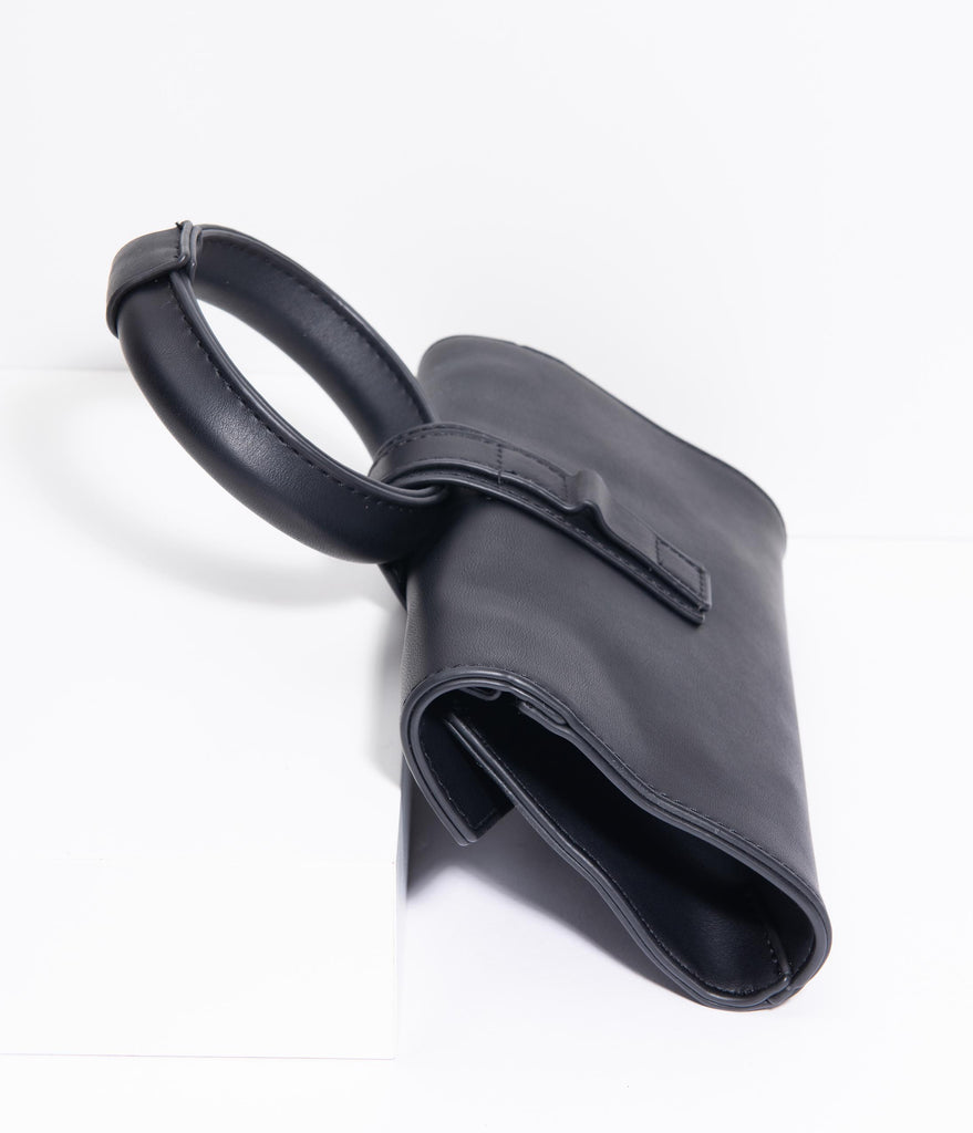 Black Leatherette Betti Belt Purse
