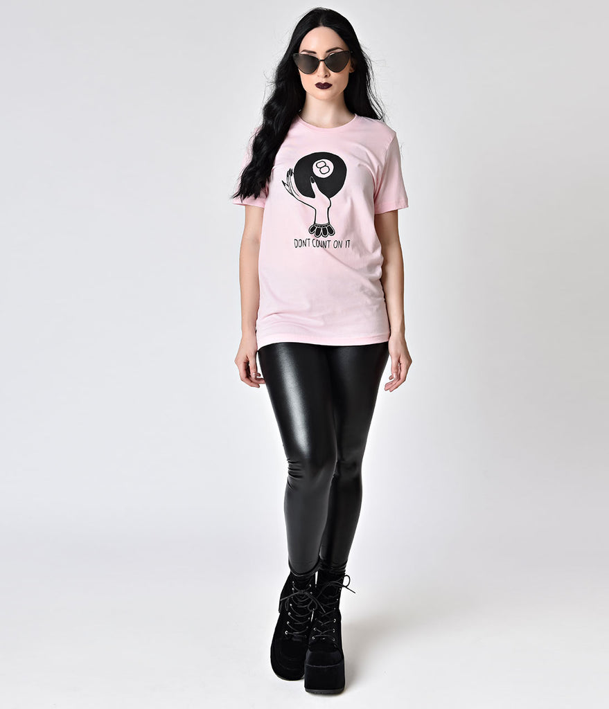 Baby Pink Magic 8 Ball Graphic Short Sleeve Unisex Tee