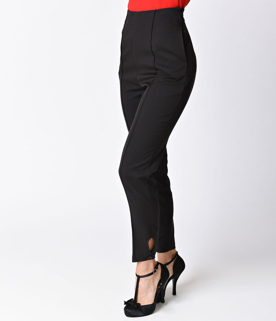 Banned Black High Waisted Tempting Fate Cigarette Pants