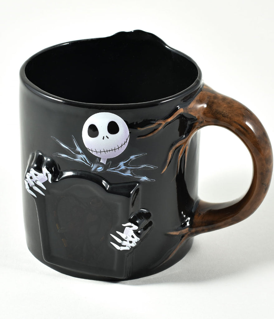 Black Ceramic Nightmare Before Christmas Meant To Be Mug