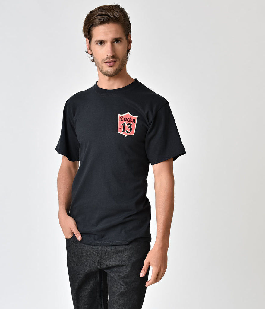 Black Custom Cleans Short Sleeve Cotton Tee