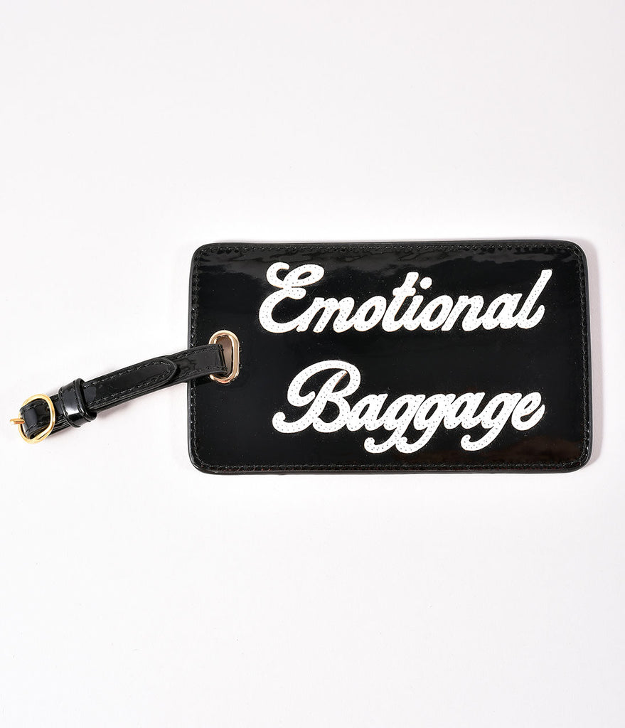 Black Emotional Baggage Luggage Tag