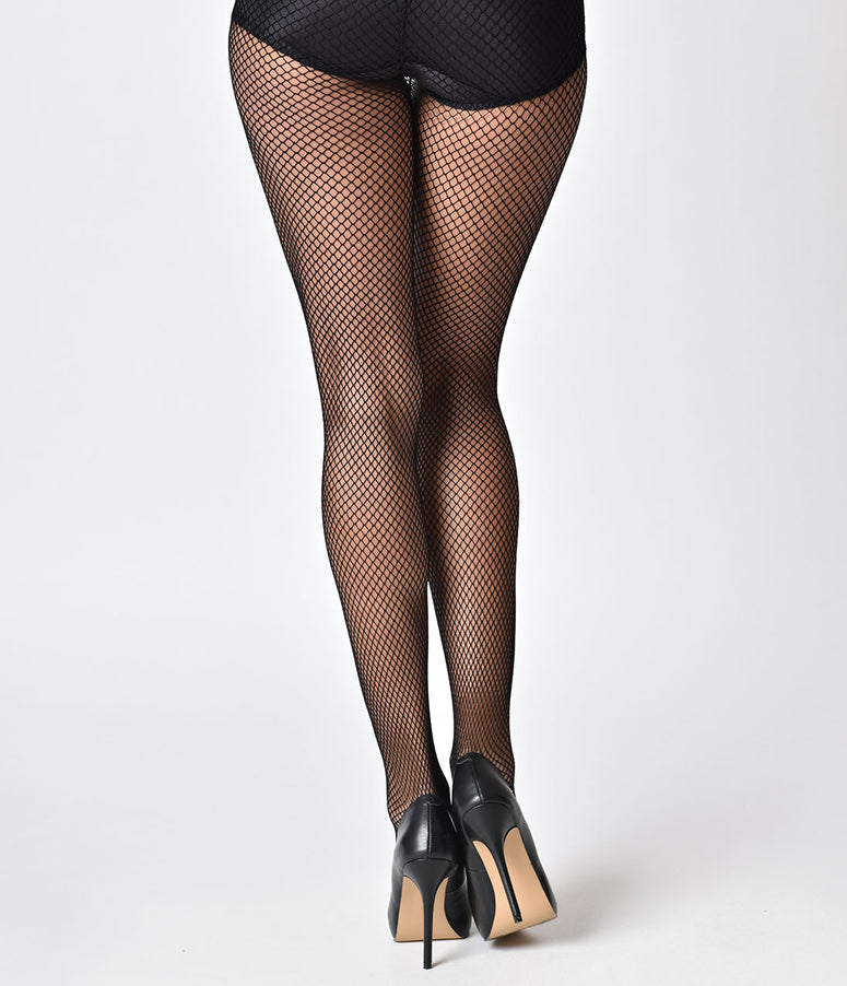525a17103 Black Fishnet Pantyhose. Quick View