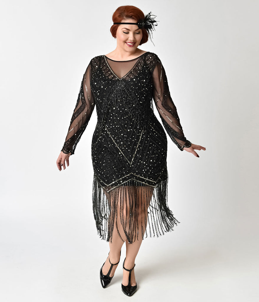 gatsby dress plus size - Heart.impulsar.co