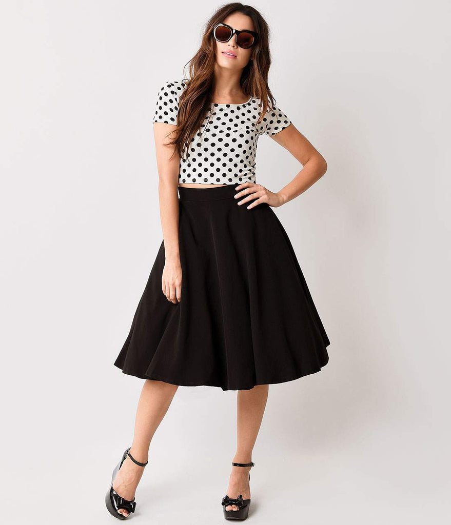 Steady Black High Waisted Thrills Skirt