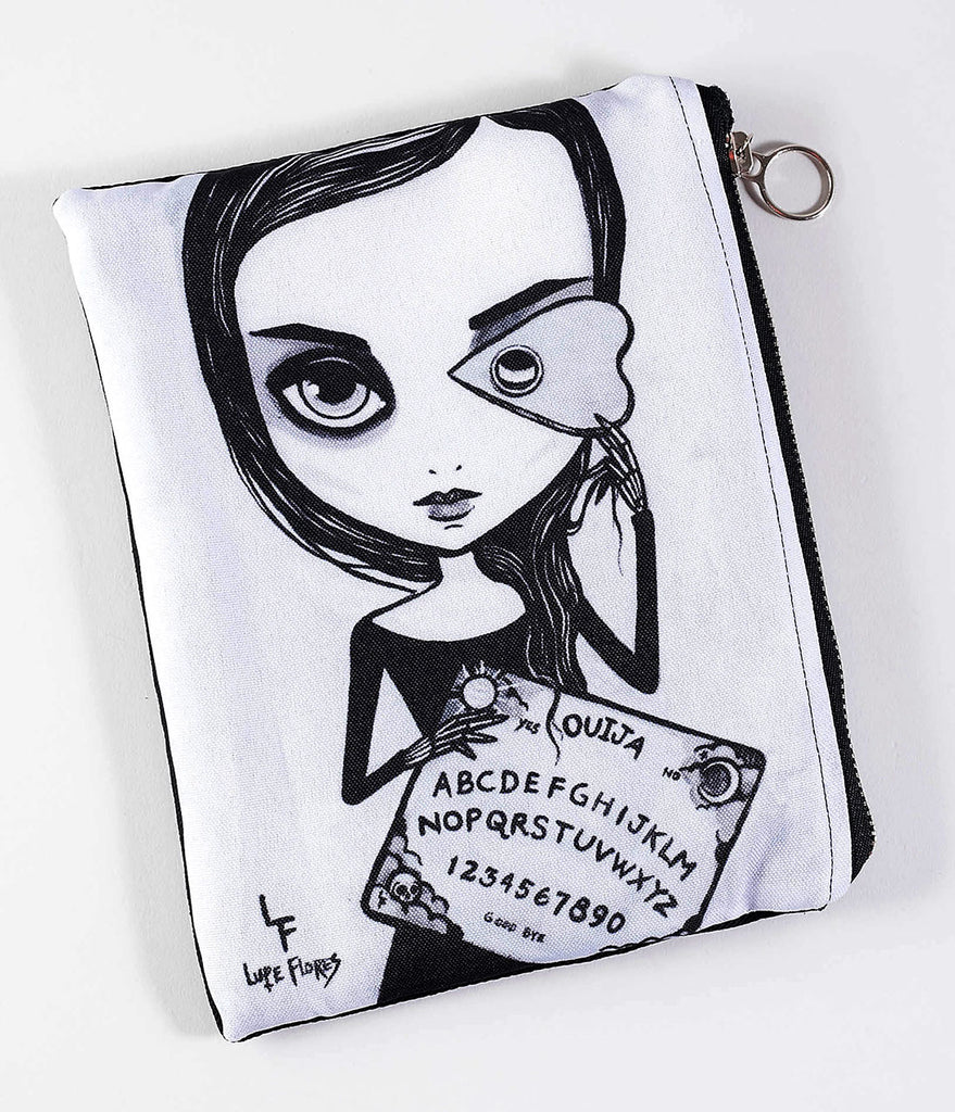 Black & Lilac Grey Ouija Board Zipper Bag