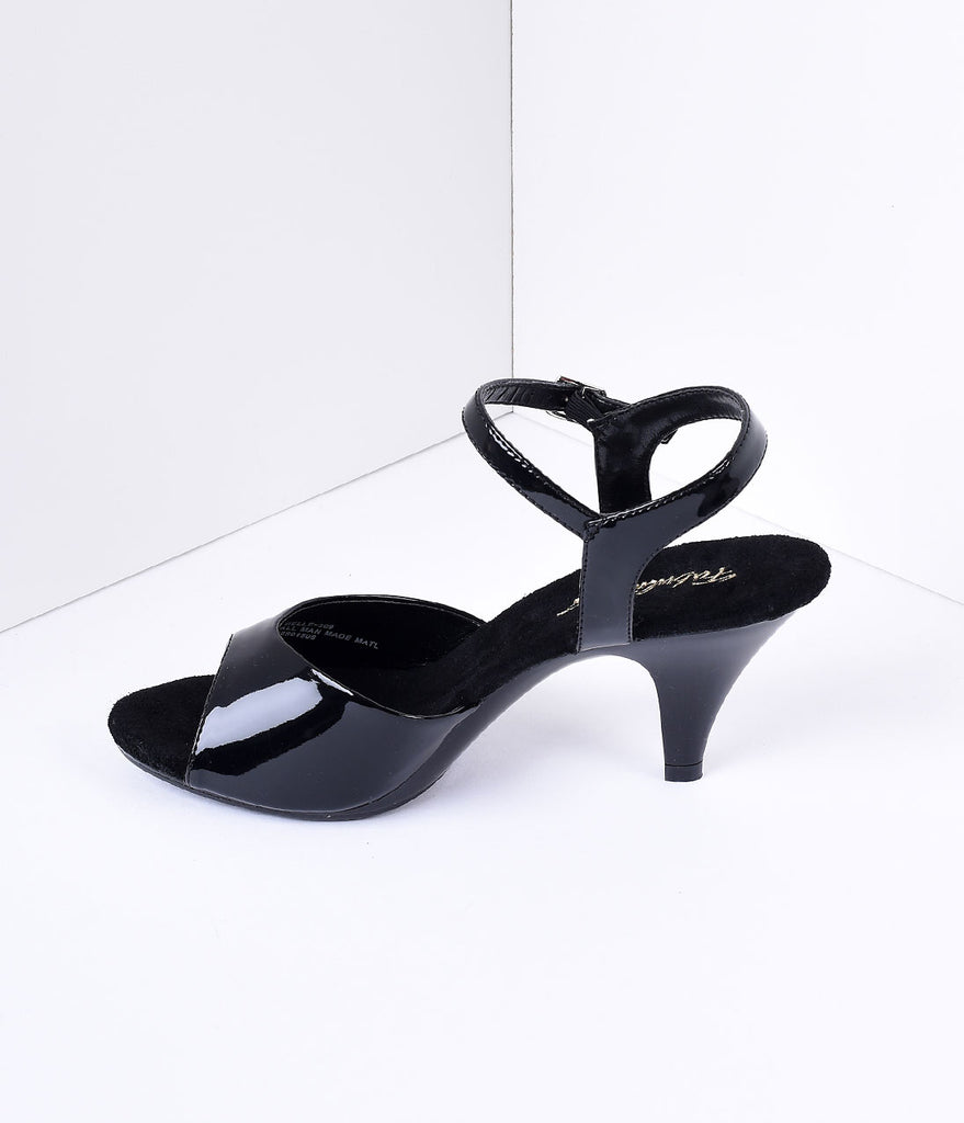 Black Patent Leather Belle Sandal Pump