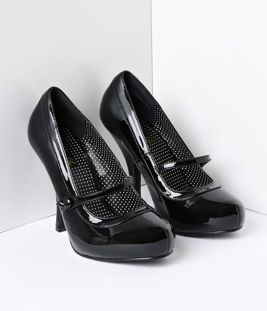 Black Patent Leather Cutie Pie Pumps