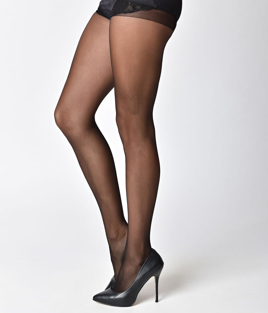 Black Sheer Backseam Pantyhose