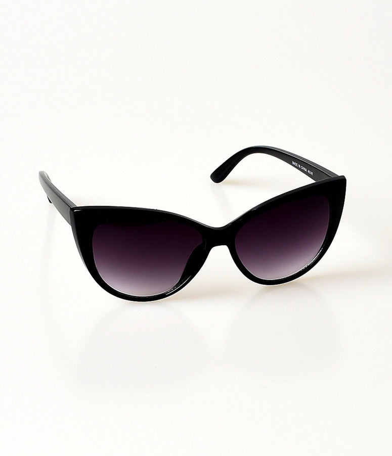 Black Spicy Cateye Sunglasses