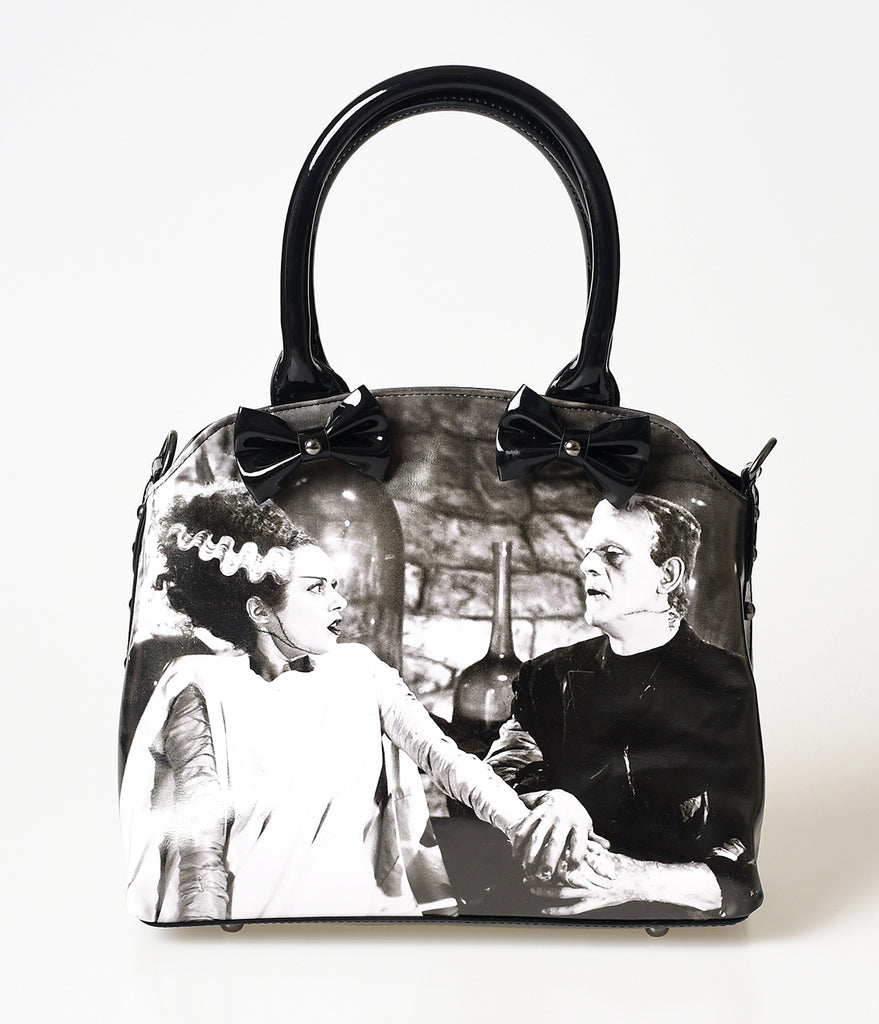 Black Vegan Vinyl Bride of Frankenstein Handbag
