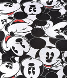 Black & White Faces of Mickey Mouse Cap Sleeve Tee