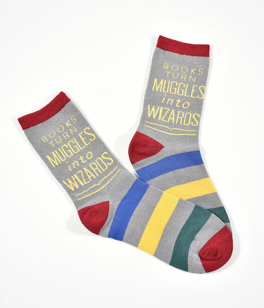 Books Turn Muggles Into Wizards Cotton Unisex Socks