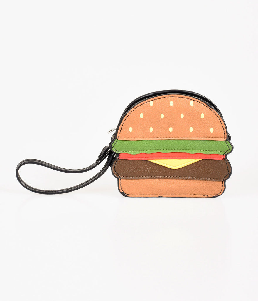 Brown Cheeseburger Coin Purse