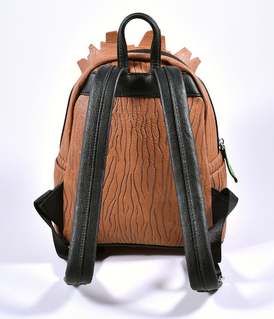 Loungefly Loungefly Brown Leatherette Groot Mini Backpack