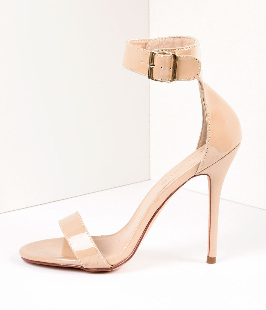 Cream Ankle Strap Amuse Sandal Pumps