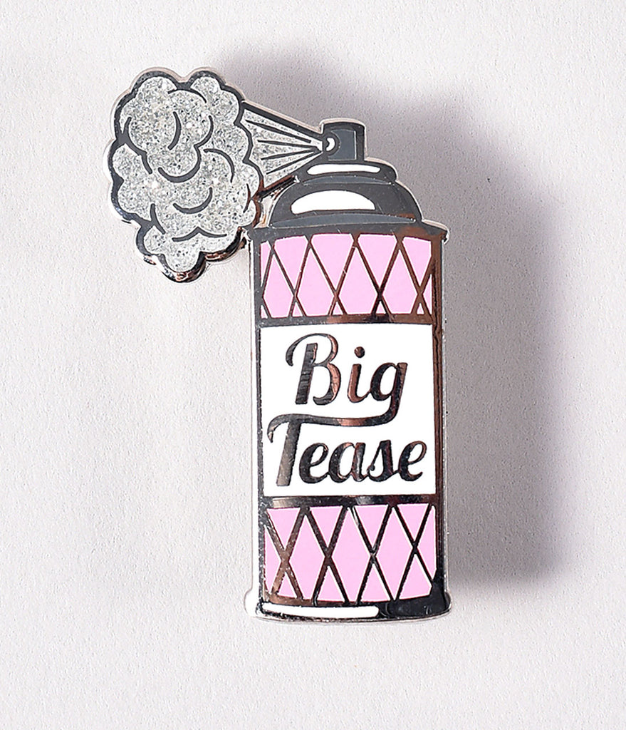 Daily Deal! Pink Hairspray Big Tease Enamel Pin
