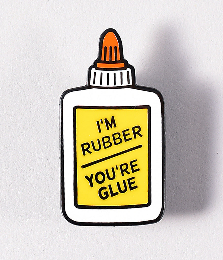 White Glue Bottle Enamel Pin