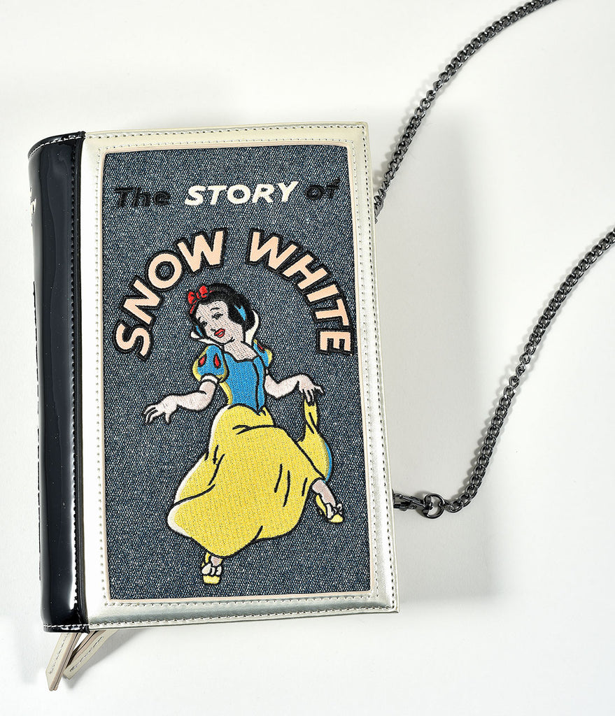 Danielle Nicole Champagne & Blue Steel Snow White Book Clutch