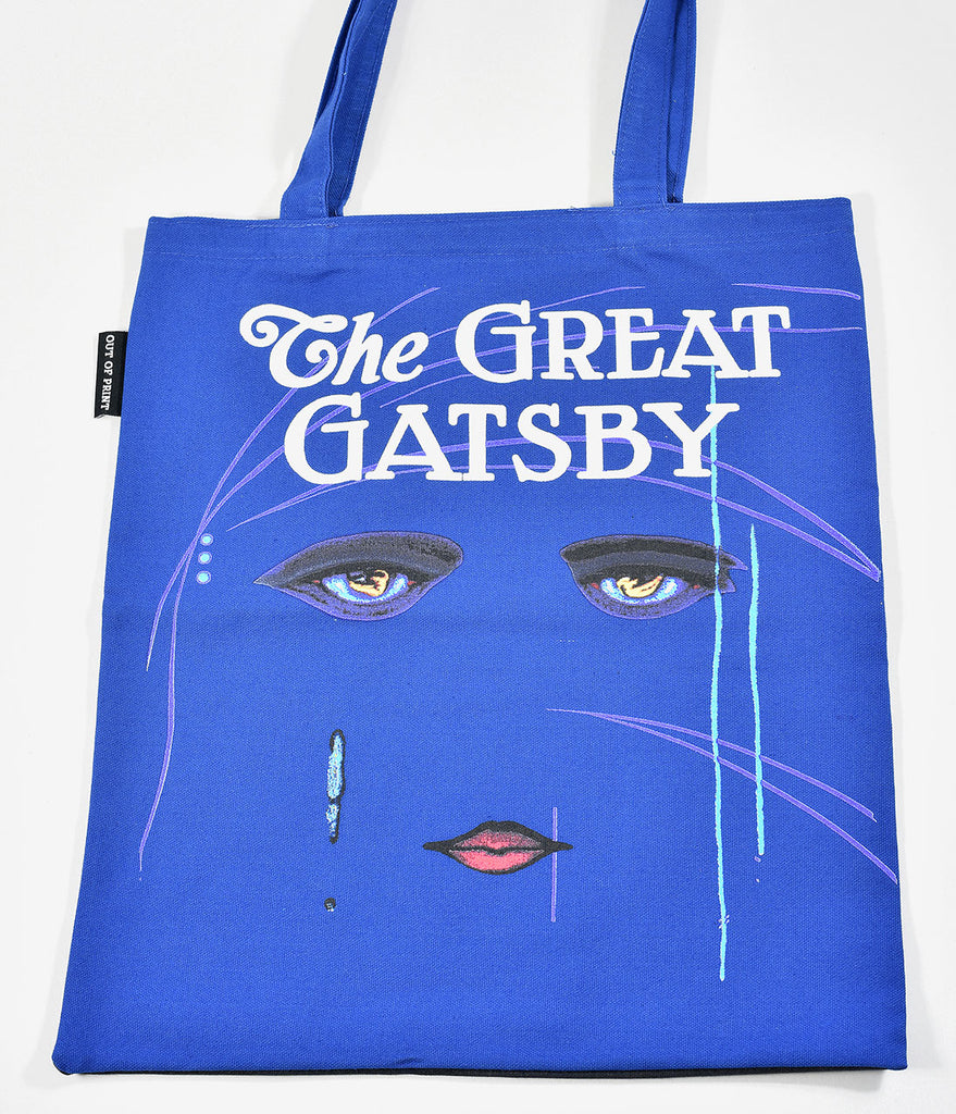 Dark Blue The Great Gatsby Canvas Book Tote