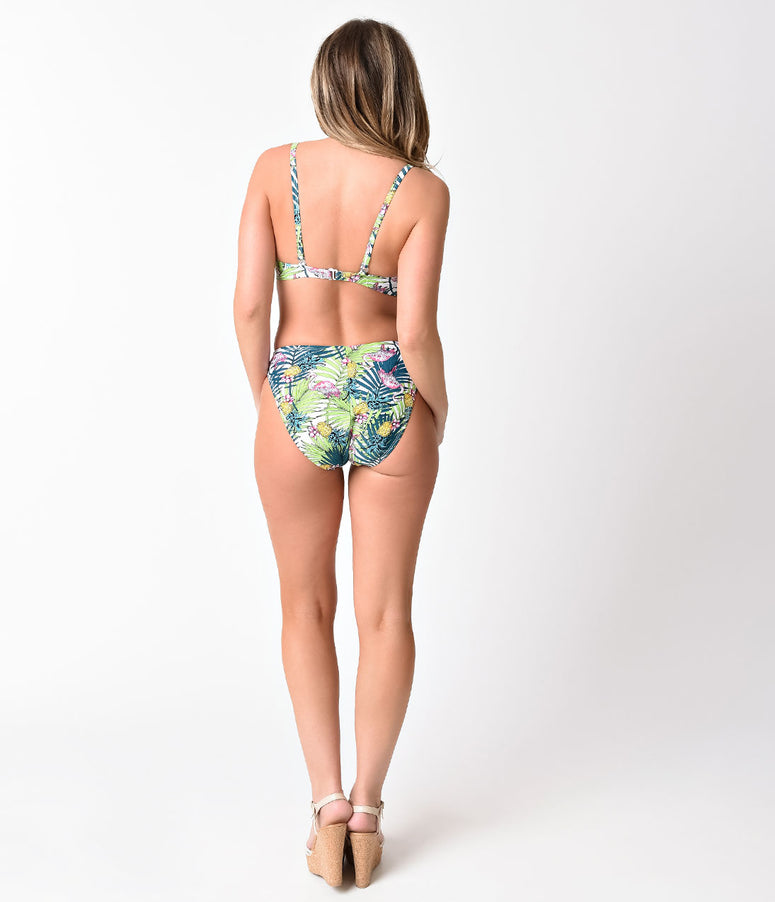 Esther Williams Retro Style Green Paradiso Bikini Swim Bottom