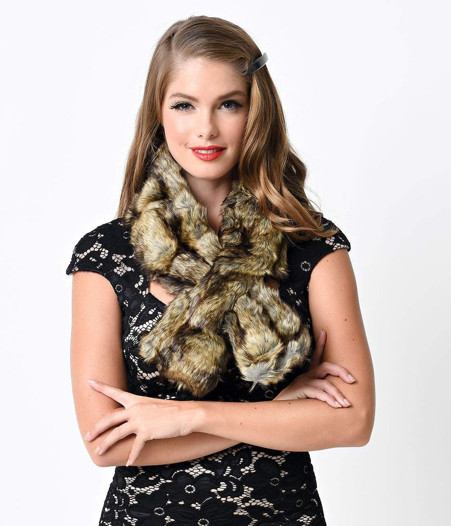 Faux Fur Wrap Stole