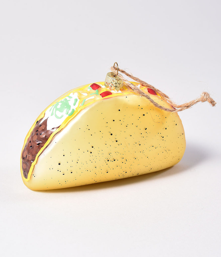 Frosted Glass Taco Ornament