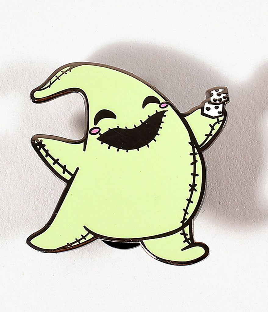 Light Green Glow In The Dark Boogie Man Enamel Pin