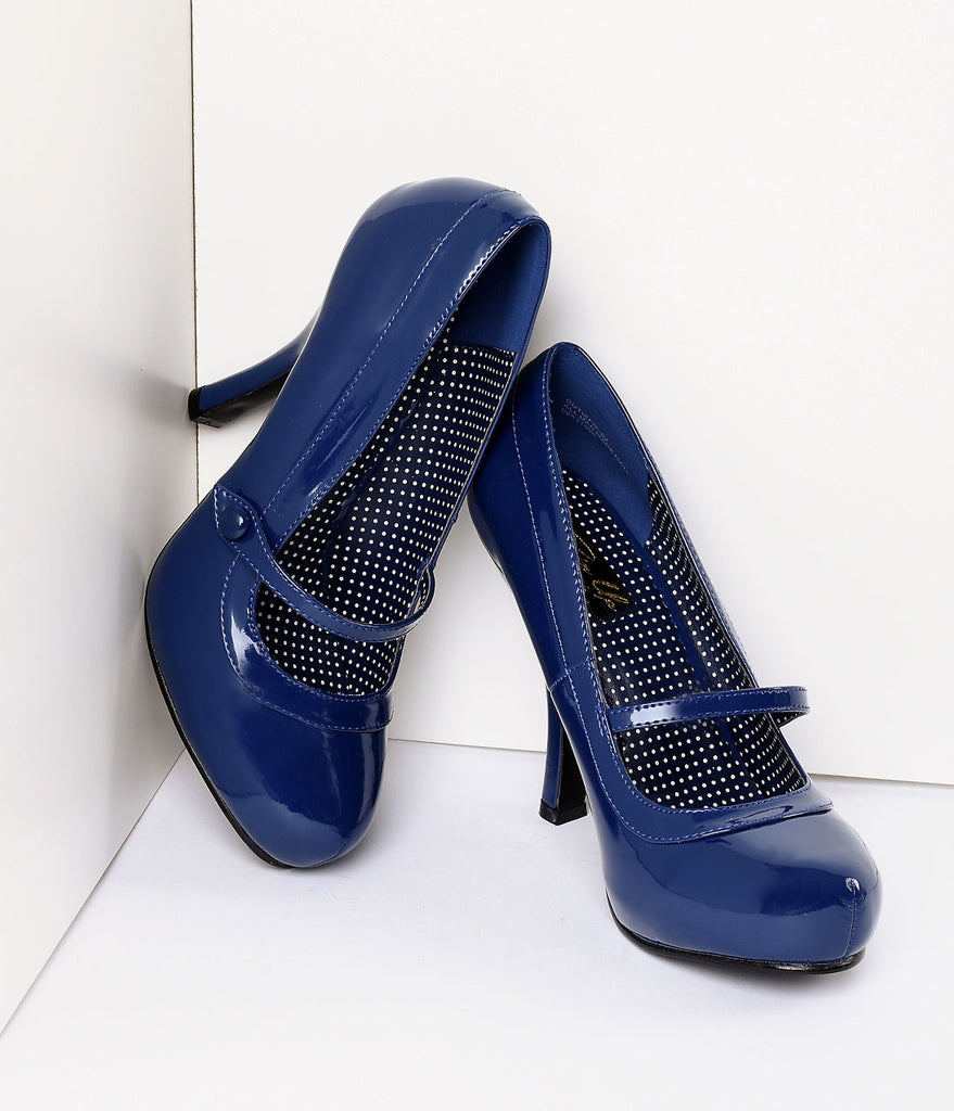Navy Patent Leather Cutie Pie Pumps