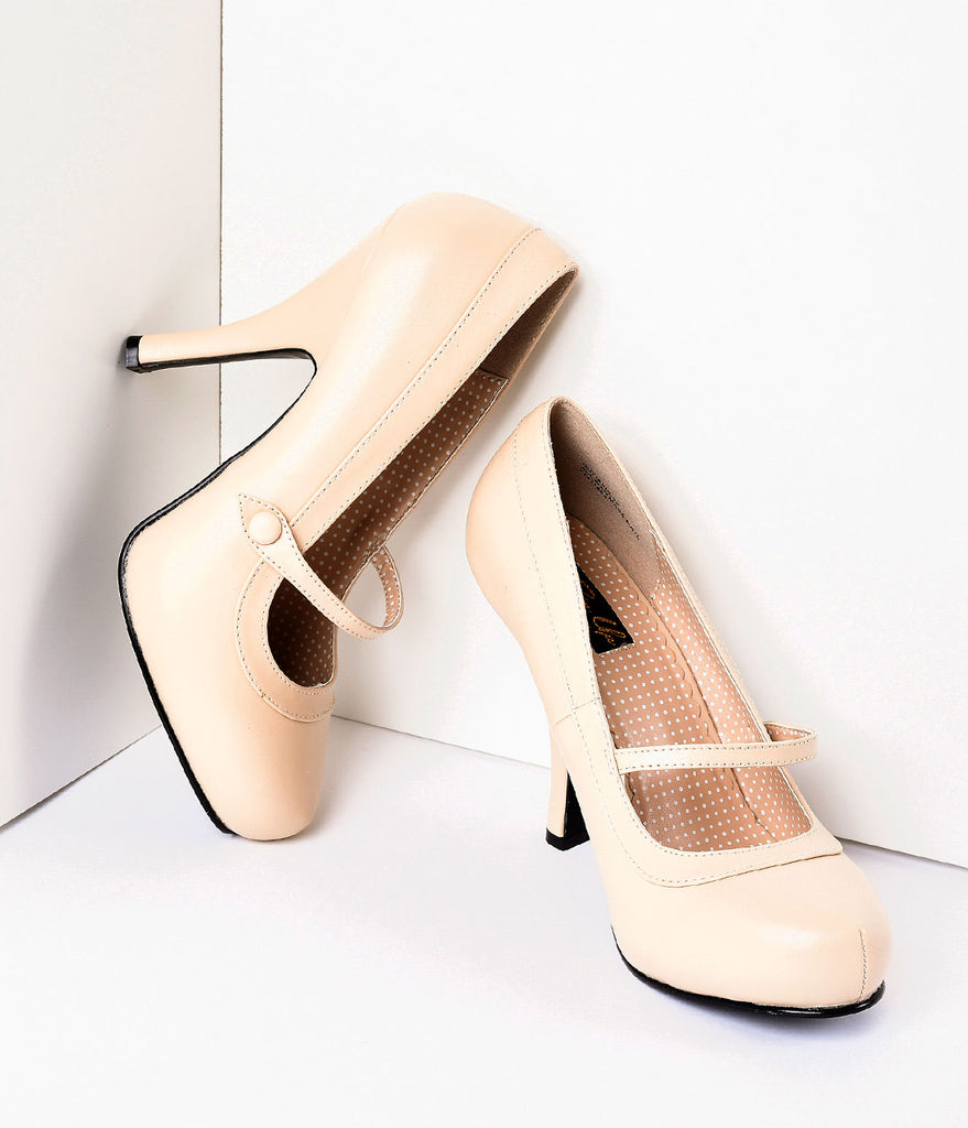 Nude Matte Leather Cutie Pie Pumps