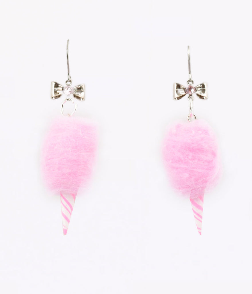 Pink Carnival Cotton Candy Dangle Earrings