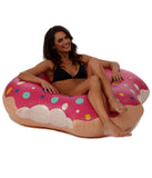 Pink Donut Inner Tube Pool Float