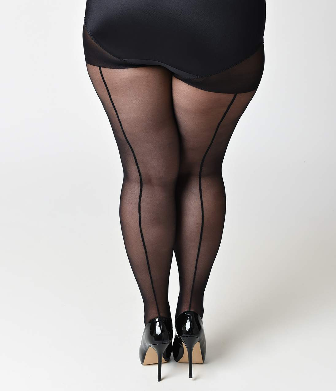 Ladies Stiletto Heel Sheer Seamed Tights Various Colours /& Sizes Available Women