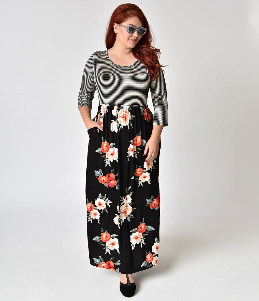 Maxi dresses with sleeve plus sizes