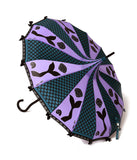 Purple & Dark Green Scales Mermaid Pagoda Umbrella