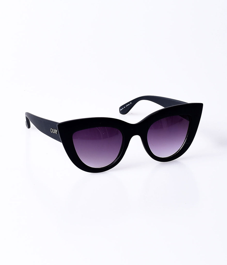 Quay Black Matte Kitti Cat Eye Sunglasses