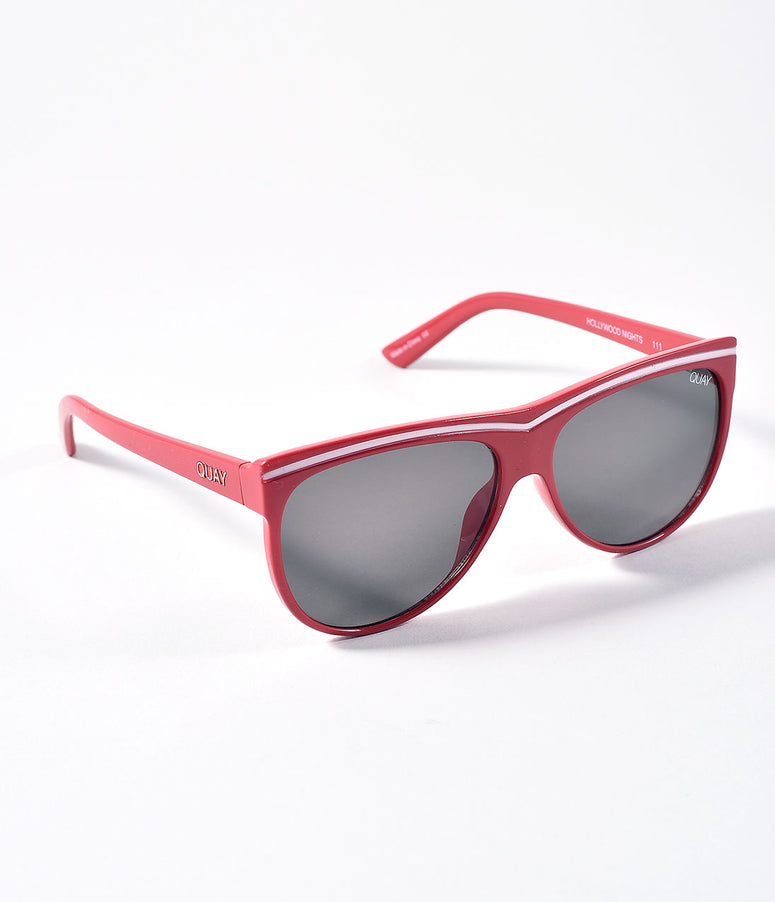 Quay Red & Smoke Hollywood Nights Sunglasses