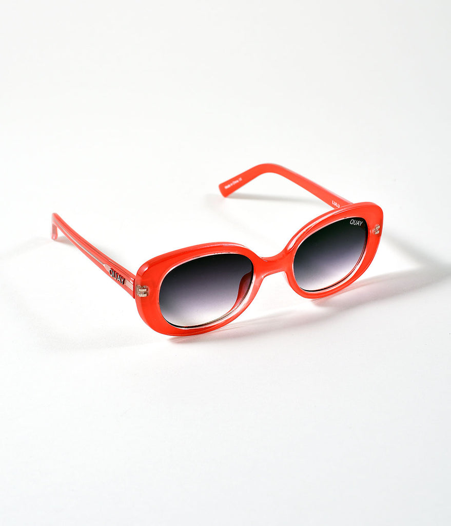 Quay Red & Smokey Round Lulu Sunglasses