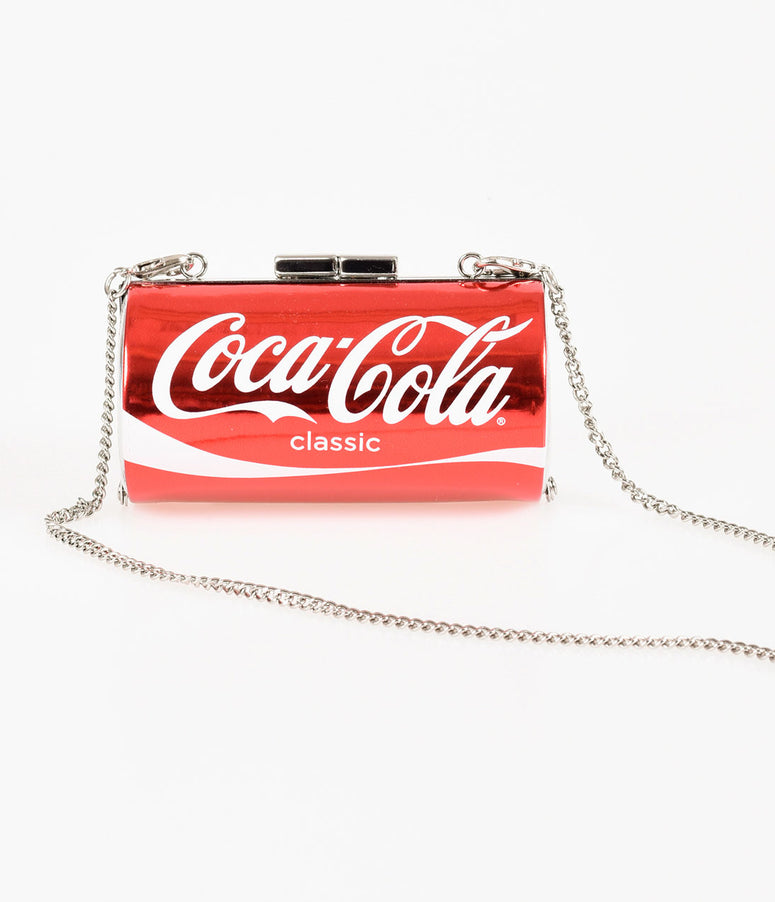 Red Classic Coca Cola Coke Can Hard Clutch