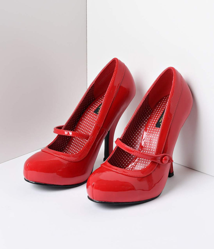 Red Patent Leather Cutie Pie Pumps