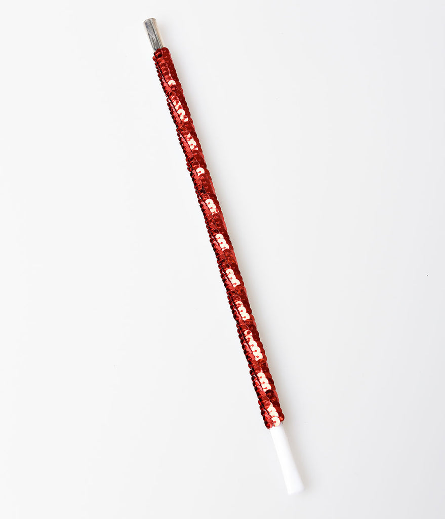 Red Sequin Flapper Costume Cigarette Holder