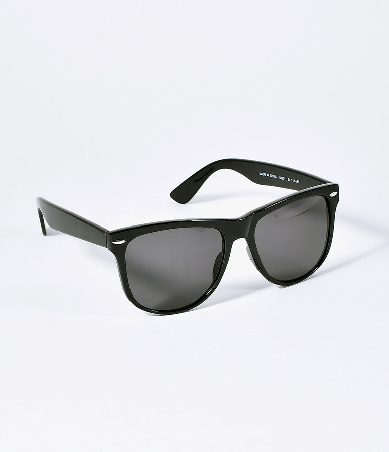 Retro Style Black Big W Square Mens Sunglasses