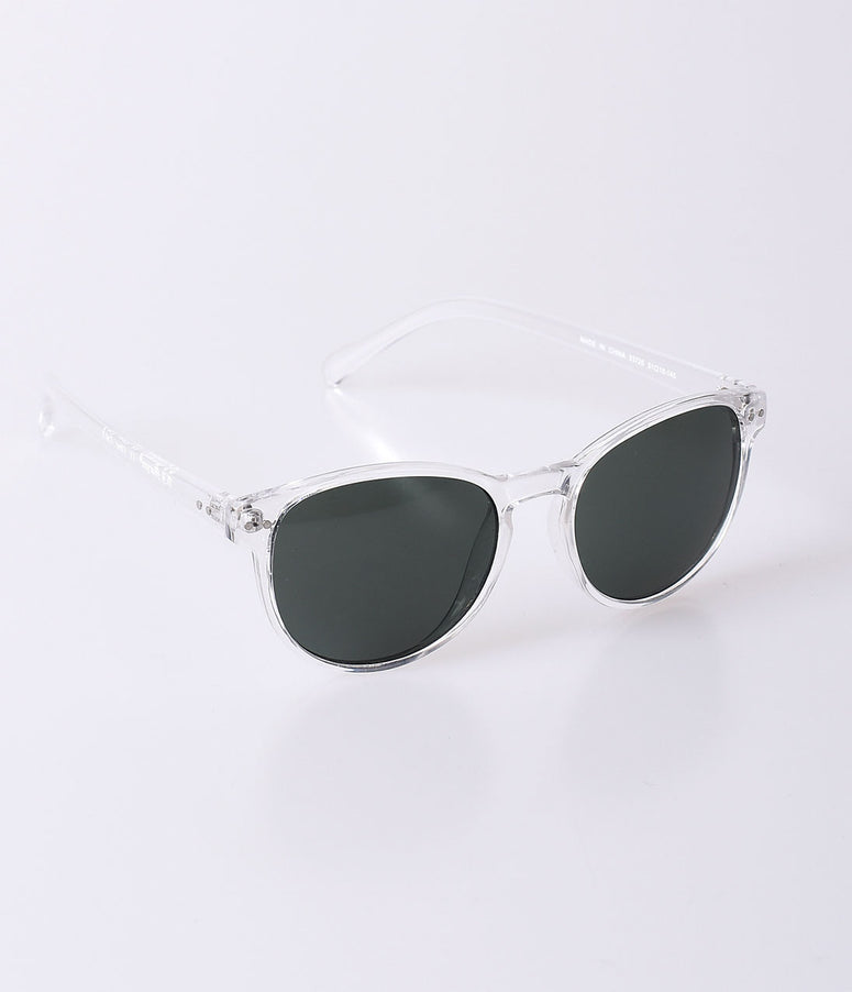 Retro Style Crystal Clear Oversized Daily Sunglasses