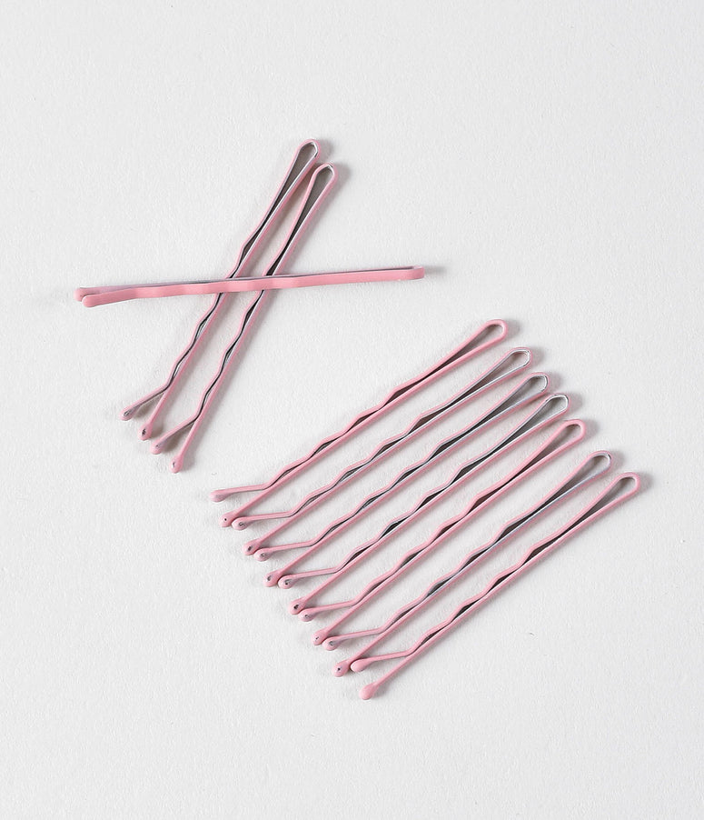 Retro Style Dusty Rose Pink Matte Bobby Pins