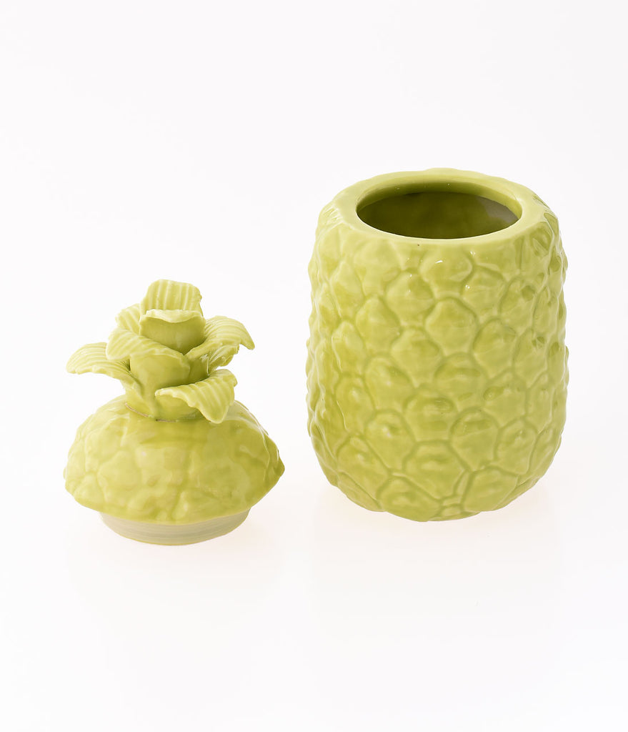 Retro Style Lime Green Porcelain Pineapple Cup